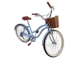bicicleta aro 26 retro vintage com cesta aero freios de aluminio
