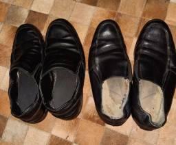 Título do anúncio: 2 pares de sapato couro  no41