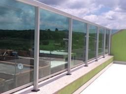 Título do anúncio: Guarda Corpo de vidro temperado e alumínio branco