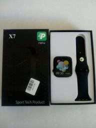 Relogio Smartwatch X7 Troca Pulseira Faz E Recebe Chamadas