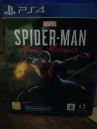 Título do anúncio: Spider-Man miles morales ps4 novo