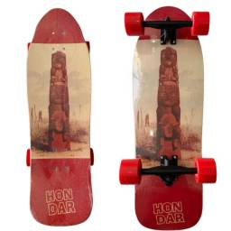 Título do anúncio: Skate Oldschool Semi Longboard Completo Profissional Hondar Totem