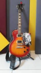 Título do anúncio: Guitarra SX Les Paul Captador Profissional Gibson Zakk Wylde 81+85 - Regulada por Oitavas