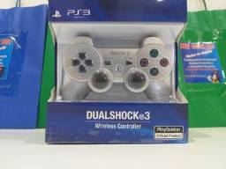 Controle playstation 3 Sony cor Cinza