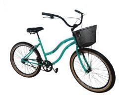 bicicleta adulto aro 26 com cesta , aero, cubos rolamento, freios alumínio