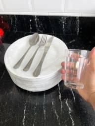 Título do anúncio: Talheres, pratos e copos Linha Profissional para restaurantes