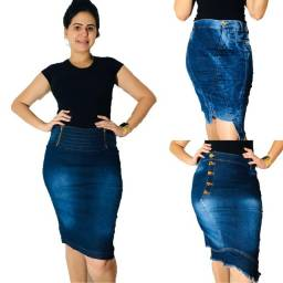 Kit saias jeans moda evangélica kit com 5 peças