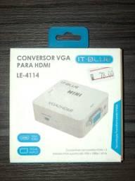 Título do anúncio: Conversor VGA para HDMI