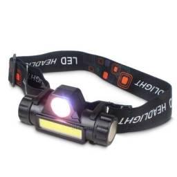 Lanterna de Cabeça Recarregável 1 LED/Sinalizador,NOVO/ACEITO TROCAS
