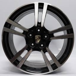 Título do anúncio: Jogo Roda Original Porsche Panamera Aro 20x8,5 E 9 Preta 5x130 Et 55 Usada
