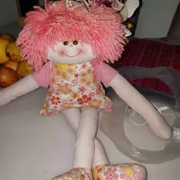 Título do anúncio: Boneca de pano rosa