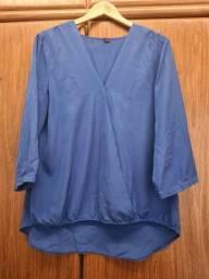Camisa azul tamanho 48