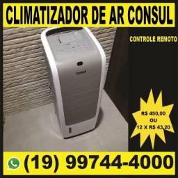 Título do anúncio: Climatizador, ventilador circulador de ar consul bem estar frio branco 127v com controle