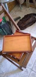 2 bandejas de madeira