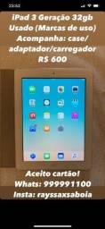 Título do anúncio: iPad 3 Geração 32gb Usado