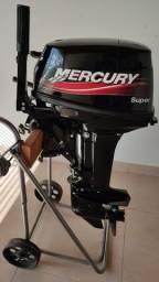 Título do anúncio: Motor de Popa Mercury 15HP Super (Original Japonês 18HP)