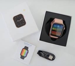 Relógio Inteligente W26+ Pink #Botão funcional com o sistema#