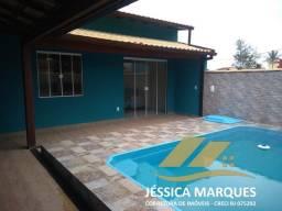 Título do anúncio: Belíssima casa com 2 quartos com piscina, próxima ao mar em Unamar, Tamoios - Cabo Frio -