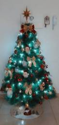 Título do anúncio: Árvore de Natal Pinheiro luxo 1,50m + enfeites