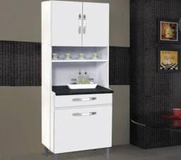 Armário de cozinha Lais com 3 portas e 1 gaveta. Entrega grátis em toda Macaé.