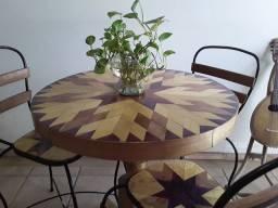 Título do anúncio: Conjuto bistrô  mesa com três  cadeiras