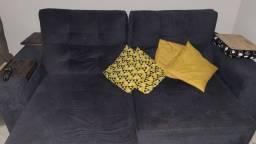 Sofá retrátil reclinável 4 lugares