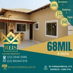 Título do anúncio: RI Casa 1 dormitório à venda, por R$ 68.000 - Unamar - Cabo Frio/RJ