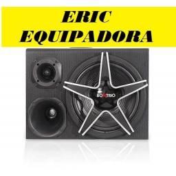 Título do anúncio: Caixa Amplificada Box Trio Boog  - 300w Rms - Sub 12?  + Cabos- Top - instalada