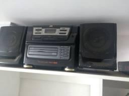 Aparelho de som JVC com 3 cds