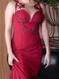 Vestido vermelho de formatura/ festa/ casamento