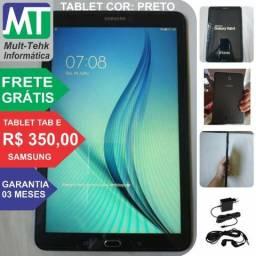 "Tablet Galaxy Tab E 9.6"" Wi-Fi + Frete Grátis"