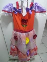 Vestido junino/ Sao joao/ Fantasia Moana