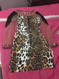 Vendo vestido animal print TAM M