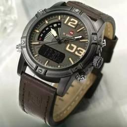 Relógio naviforce/ohstin originais em couro