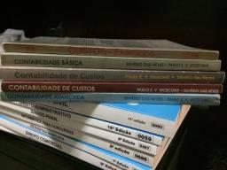 Contabilidade - 5 livros no total.