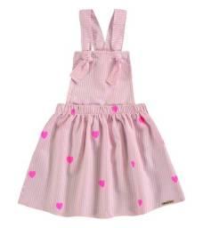 Vestido Bebê Menina Jardineira Infantil Roupa Bebê Feminina