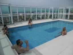 Alto padrão c/ wi-fi , apto 1 qto com sacada fte praia, piscina, Santos , Praia Embaré