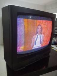Tv antiga tubo semp maxcolor leia