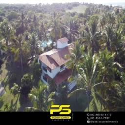 Mansão com 5 dormitórios + 7 chalés à venda por R$ 4.900.000 - Pipa/RN