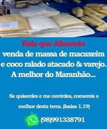 ?Massa de Macaxeira (aipim, para Bolos ...) & Coco ralado. ?