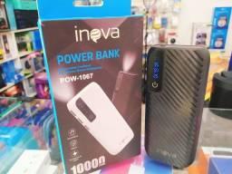 Power Bank Portátil 10000mah Com Visor De Led Inova Pow 1068