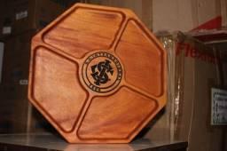 Petisqueira de Madeira Grapia 35cm x 35cm x 3,5cm