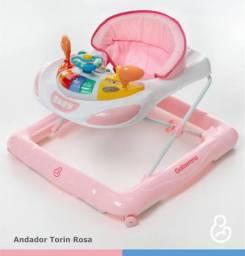 Andador Galzerano musical Rosa - Semi novo