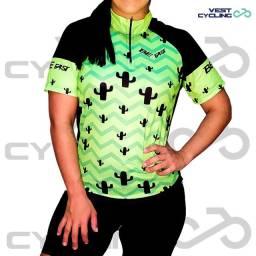 Camisa Ciclismo Bike MTB Manga Curta Feminina - Vários Modelos
