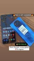 Título do anúncio: POCO X3 NFC 64GB/6GB LACRADO/ GLOBAL