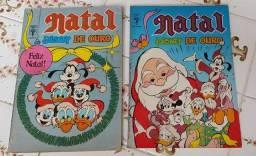 Título do anúncio: Gibis antigos Lote Natal Disney de Ouro anos 87 e 88