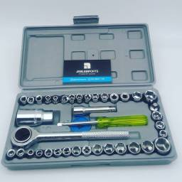 Kit chave socket catraca 40 peças//só hoje entrega grátis