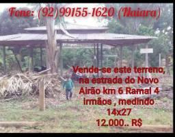 Título do anúncio: Vende-se este terreno na estrada de Novo Airão..