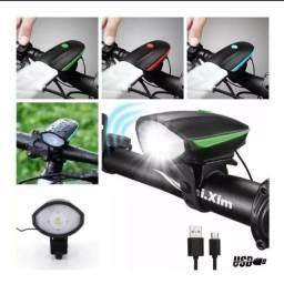 Título do anúncio: Pisca farol buzina led de bike