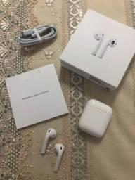 Título do anúncio: Apple Air Pods segunda geração. apenas 2 meses de uso.